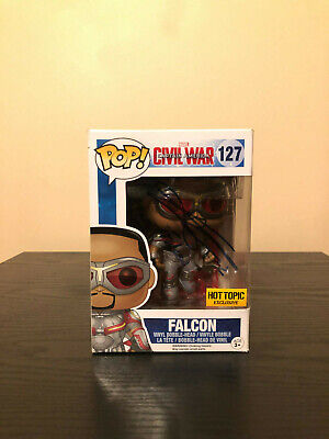 Funko POP! Marvel Civil War - Falcon #127 **Autographed by Anthony Mackie**