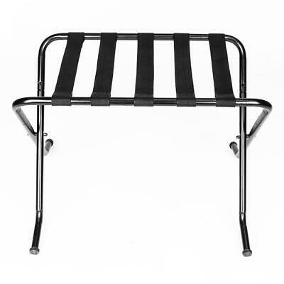 Metal Folding Suitcase Stand Hotel motel Travel Storage Luggage Rack Black