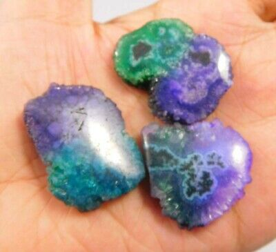 106 Cts. Natural Dyed Multi Solar Druzy Agate Lot Loose Cabochon Gemstone NG6782