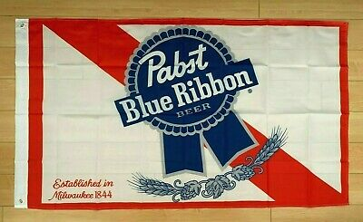 Pabst Beer PBR 3x5 Ft Flag Indoor Outdoor Banner Man Cave