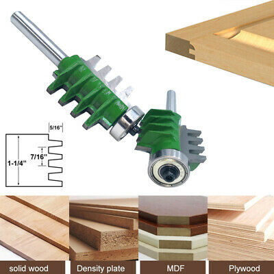 8mm Shank Router Bits Finger Joint Glue Cutter for Wood Tenon Woodwork Milling