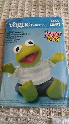 MUPPETT Baby KERMIT & Clothing Patterns VOGUE UnCut