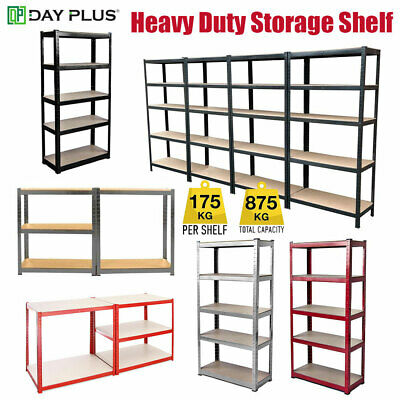 Garage Shed Racking Storage Shelving Units Boltless Metal Shelves 5 Tier - Cheap