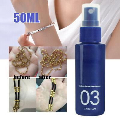 Jewelry Cleaner Polish Tarnish Quick Remover for Silver Gold Brass 50ML