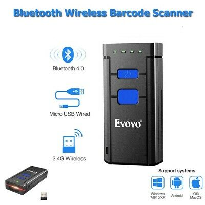 Wireless Bluetooth Barcode Scanners Code Reader Support Apple IOS Android Win7/8