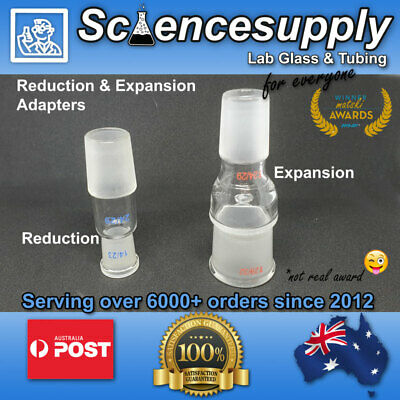 reduction expansion adapters 24/29 borosilicate glass chemistry lab
