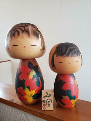 Japanese traditional crafts Kokeshi craftsman Large is 24 cm, Small is 17 cm