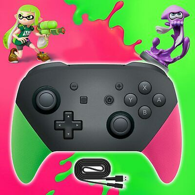 Wireless BT Splatoon Gamepad Pro Controller For Nintendo Switch PC NFC Amiibo