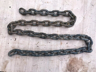 HEAVY DUTY STEEL SHORT LINK WELDED CHAIN 40mm x 30mm x 8mm x 1.2 metres