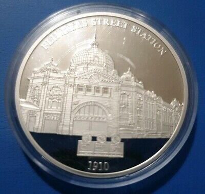 1910 Flinders Street Station 175th Anniversary of Melbourne Proof Coin