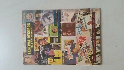 Music Record Catalogues 4 from 1960s, Festival etc. Free Post