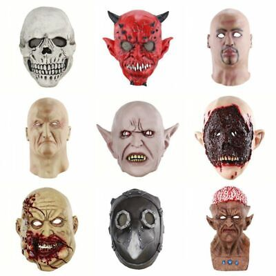 Halloween Scary Ghost Mask Party Cosplay Costume Bar Horror Mask Clown Zombie US
