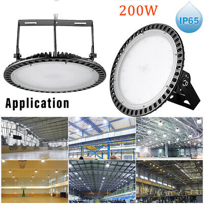 200W NEW UFO LED High Bay Light Day Cool White Commercial Warehouse Industrial