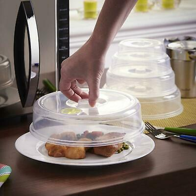 5 Pack Microwave Covers Ventilated Mixed Sizes Food Splatter Protector Set