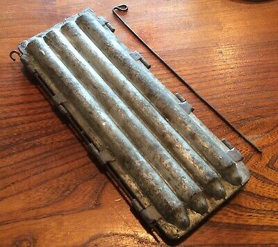 Antique French cast iron industrial 4 x Candle Mould