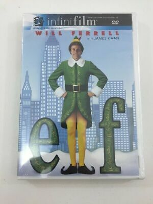 Elf - Will Farrell (DVD, 2004, NEW SEALED) Infinifilm Edition