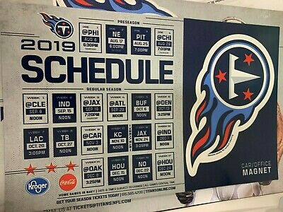 2019 Tennessee Titans  Car Magnet & schedule New