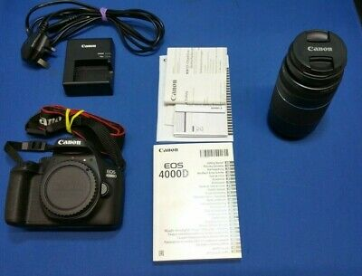 Canon EOS 4000D  Digital SLR Camera Kit with EF-75-300mm f/4-5.6 III lens