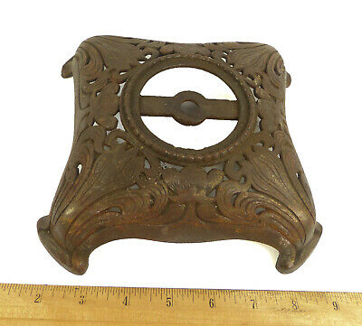 Table Base Antique Cast Metal Great Filigree From Original 1900 Oil Lamp
