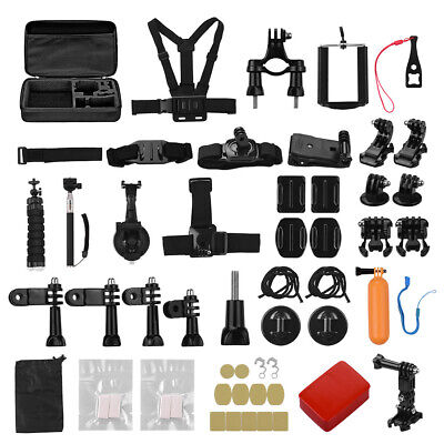 50in1 Sports Action Camera Accessories Kit Multicolor For Gopro Hero 8 7 6 M3C3