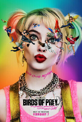 BIRDS OF PREY MOVIE POSTER 2 Sided ORIGINAL 27x40 MARGOT ROBBIE HARLEY QUINN