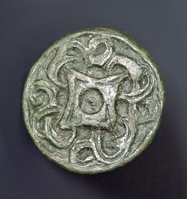 Viking Bronze Disc Brooch Of Borre Style (M772)