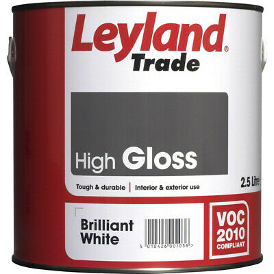 Leyland Trade Gloss (All Colours) | High Gloss for Interior/Exterior Wood, Metal