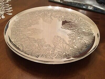 Superb Antique Barker Brothers Silver Plated Chased Cake Tray