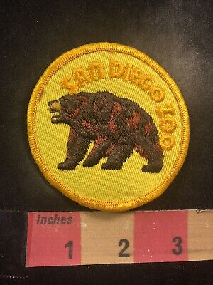 Vtg Brown Grizzly Bear SAN DIEGO ZOO California Patch 90YK