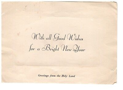 Vintage Greeting / New Year / Christmas Card - The Holy Land - Pressed Flowers