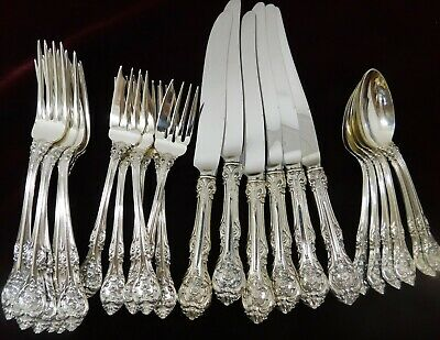 (6) Four Piece Place Settings  Gorham King Edward Sterling Silver - J1433