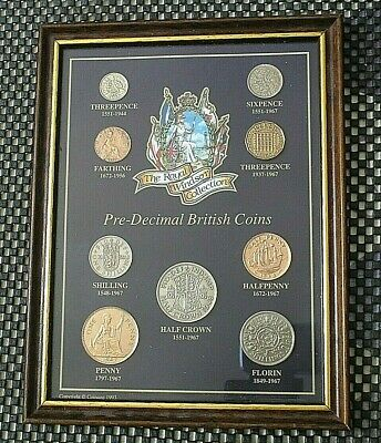 THE ROYAL WINDSOR COLLECTION PRE-DECIMAL BRITISH COIN SET 170mm x 220mm