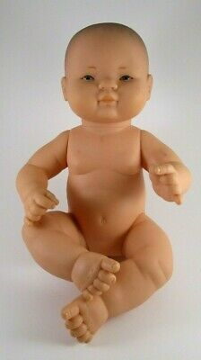 """ASI Realistic Vinyl 14"""" Jointed BABY DOLL - Excellent - Spain 36cm 1993"""