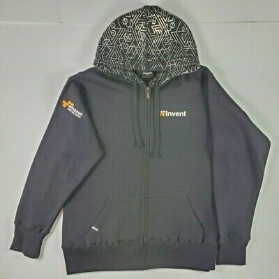 Amazon Web Services AWS re:Invent 2015 Hoodie Zip Up Front Pouch Size XL!