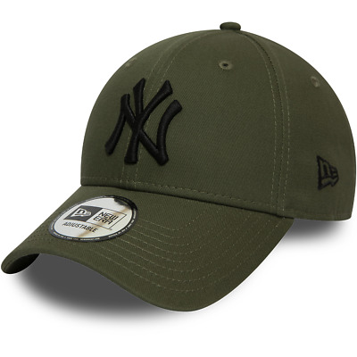 New Era New York Yankees Baseball Cap.9Forty Mlb Olive League Essential Hat 9W2