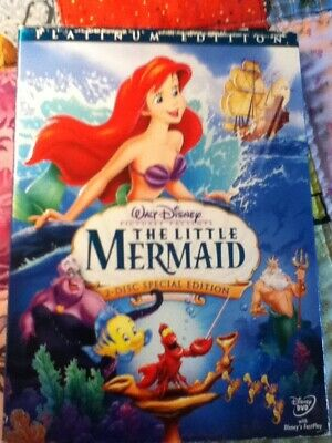 The Little Mermaid (1989) DVD DISNEY 2-Disc Special Edition Platinum Animated