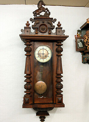 Antique Wall Clock Regulator Clock 19th century *** THOMAS HALLER **
