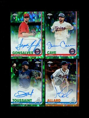 2019 Topps Chrome Sapphire Baseball Orange Green Auto U-Pick