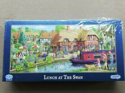 """Gibsons 636pce puzzle """"Lunch at the Swan"""" by Sarah Adams, BNIB"""