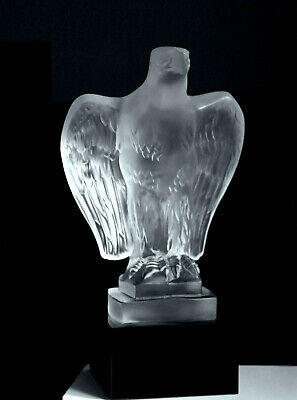 Glamorous Art Deco Bohemian Glass Car Mascot ' Eagle ' Hood Ornament H.Hoffmann