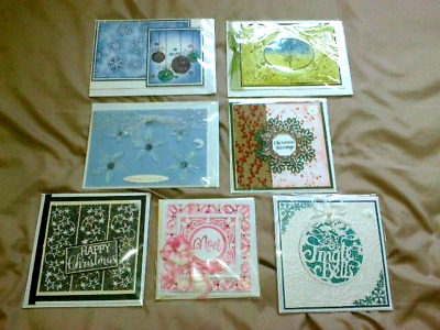 Seven Hand Crafted Christmas Cards - New, Sealed