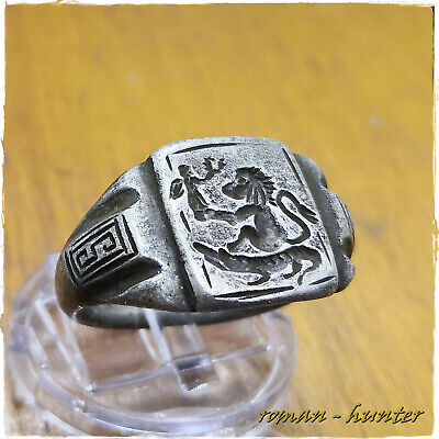 """ LEGIONARY - RARE ""  ancient  SILVER Roman ring !!!!! 8,71g"