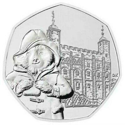 Paddington - 'AT THE TOWER' NEW 2019 50p Coin Uncirculated From Sealed Bag Buc