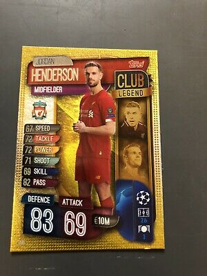 Match Attax 2019/20 Champions League - Jordan Henderson Club Legend #290