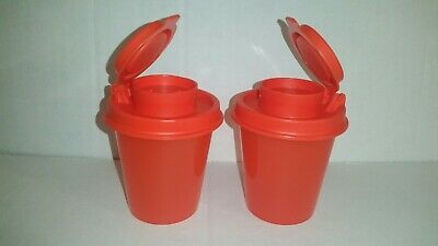 New TupperwareTupper Mini Salt N Pepper Shakers Awesome For Travel! Chili Pepper