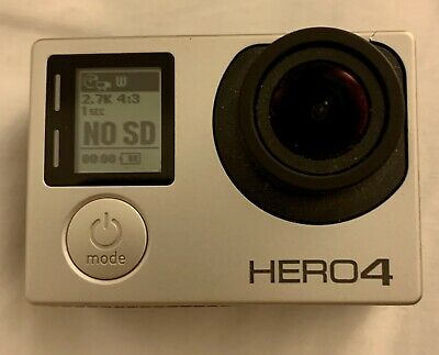 GoPro HERO4  Action Camcorder - Silver With 3 Batteries