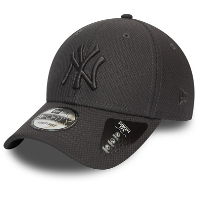 New Era New York Yankees Baseball Cap.9Forty Mlb Grey Adjust Diamond Era Hat 9W2