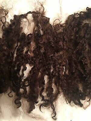 """Angora Mohair For Reborns Dyed Intense Brown 6.50 1/2 Oz 5-6"""" Doll, Crafts. Soft"""