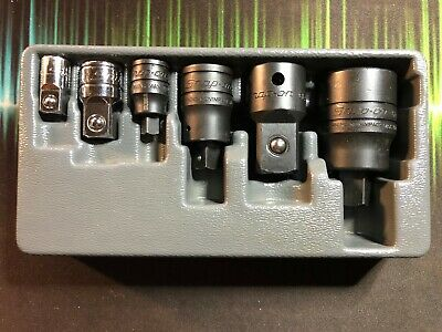 Snap On 1206GS  6-Piece Combination Drive Square Drive Adapter Set USA