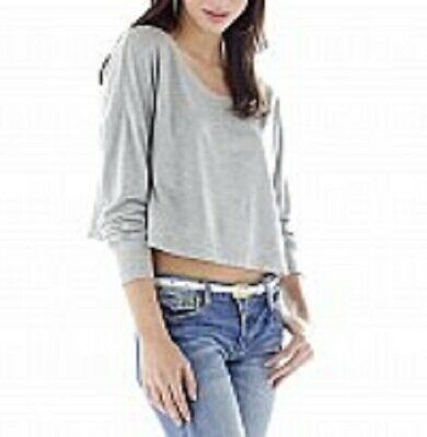 Baby Phat..SEXY COMFY..OPEN NECK..SPLIT SIDE tee...GRAY...XLARGE..NWT...J2A00179